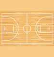 basketball court with parquet wood board vector image