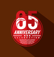 65 Years Anniversary Celebration Design vector image