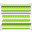8 different horizontal level progress indicators vector image vector image