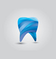 a colorful glossy 3d tooth vector image