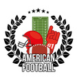 american football vector image vector image