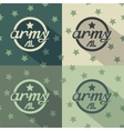 Army seamless signs print vector image