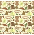 Autumn sale seamless pattern with season women vector image vector image