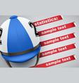 background of jockey statistics vector image vector image