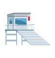 beach lifeguard tower icon flat design
