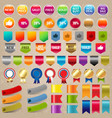 big collection sale stickers and web ribbon set vector image vector image
