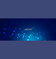 blue background with glowing dots bokeh style vector image vector image