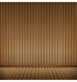 Brown wood floor texture and wood wall background vector image vector image