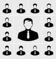 business man in suit icons set vector image vector image