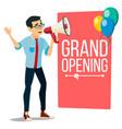 businessman announce concept banner design vector image