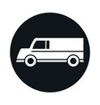 car delivery van model transport vehicle block and vector image vector image