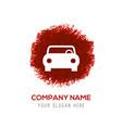 car icon - red watercolor circle splash vector image