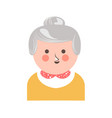 cheerful senior adult woman vector image