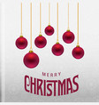 christmas card with balls and pattern vector image vector image