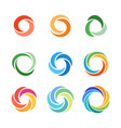 circle company logo signs set vector image vector image