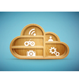 cloud shelf vector image vector image