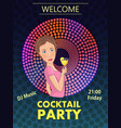 cocktail party with girl vector image vector image