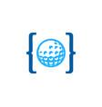 code golf logo icon design vector image
