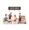 coffee house design concept vector image vector image