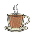 color crayon stripe cartoon transparent cup of vector image vector image