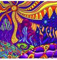 colorful doodle surreal landscape fantastic vector image vector image