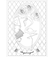 Coloring Page Alice in Wonderland Royal Croquet vector image vector image