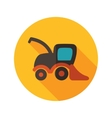 Combine harvester flat icon with long shadow vector image vector image
