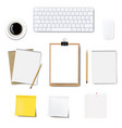 computer keyboard frame isolated white background vector image vector image