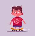 cute boy character cartoon vector image vector image