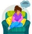 depressed girl vector image