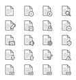 Document Icons Line vector image vector image