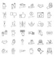 document icons set outline style vector image vector image
