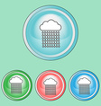 Ecology Icons Set Climate change Rain Clouds Line vector image