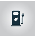 Electric car charging station or Bio fuel petrol vector image