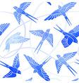 Flight of Swallows - watercolor pattern vector image vector image