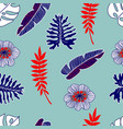 Floral and tropical seamless pattern