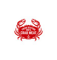fresh seafood emblem template with crab design vector image vector image