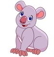 funny cartoon koala vector image vector image