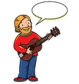 Funny musician or artist vector image vector image