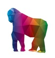 Gorilla triangle vector image