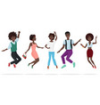 happy group of african american teamwork friends vector image vector image