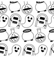 happy halloween icons pattern vector image vector image