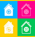 hospital sign four styles of icon on vector image vector image