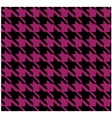 Houndstooth Pattern Violet Design vector image