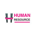 human resource logo vector image vector image