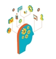 isometric style brainstorming vector image vector image
