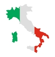 Italy map icon flat style vector image vector image