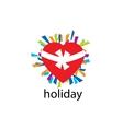 logo holiday vector image vector image