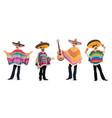 mexican musicians at cinco de mayo festival vector image vector image