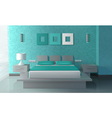 Modern Bedroom Interior vector image vector image